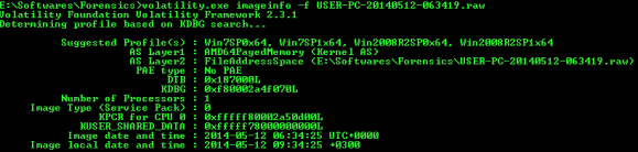 Getting Memory dump Information
